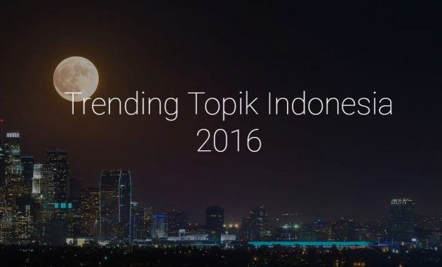 Trending Topik Indonesia Tahun 2016