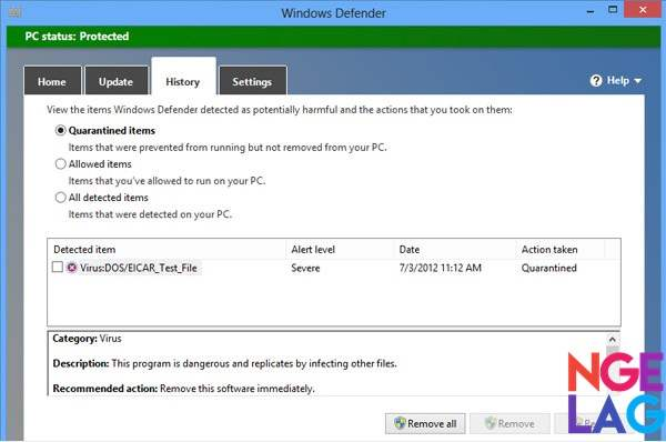 Windows Defender Antivirus Gratis Terbaik