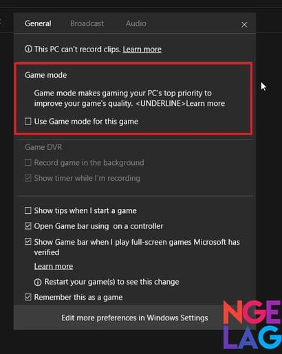 Cara Mengaktifkan Game Mode Pada Windows 10 - Langkah Ketiga