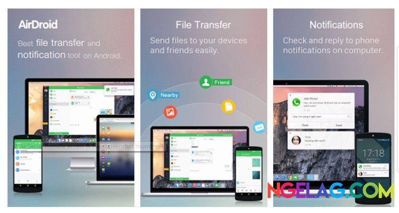Aplikasi Android Tercanggih AirDroid - Remote access File