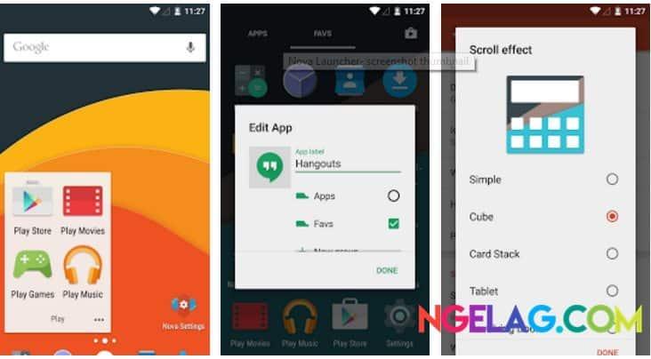 Aplikasi Android Tercanggih Nova Launcher