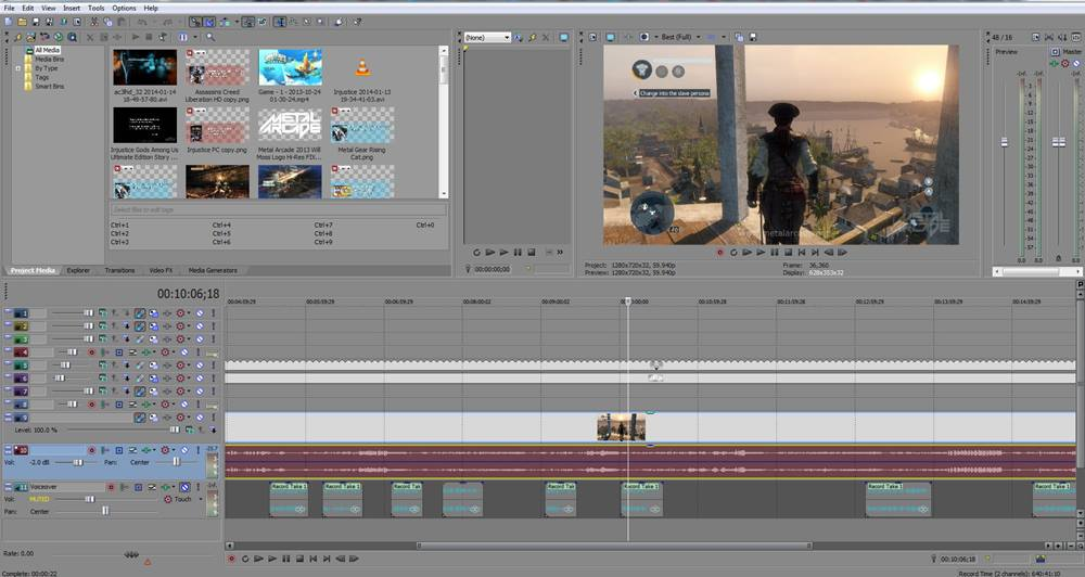 Aplikasi Edit Video Vlog YouTube - Sony Vegas Pro