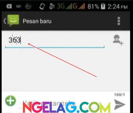 Cara Cek Kuota Indosat Ooredoo 4G Lte Melalui SMS - Masukan Nomor 363