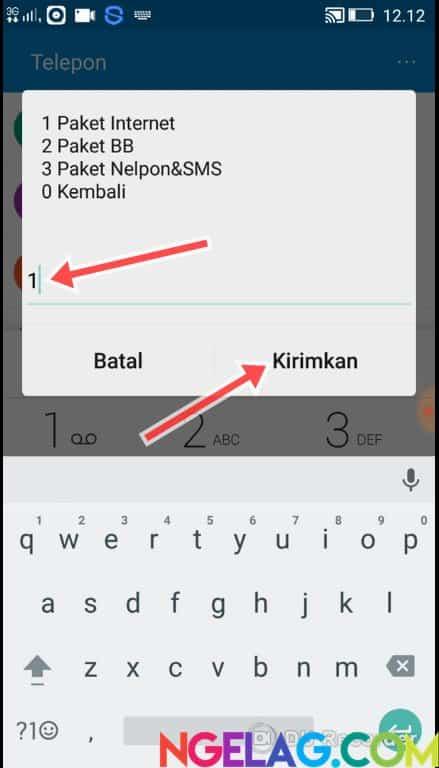 Cara Cek Kuota Indosat Ooredoo 4G Lte Melalui Telepon - Tekan 1 Lagi Lalu Kirimkan