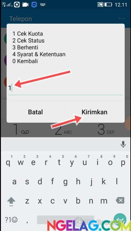 Cara Cek Kuota Indosat Ooredoo 4G Lte Melalui Telepon - Tekan 1 Lalu Kirimkan
