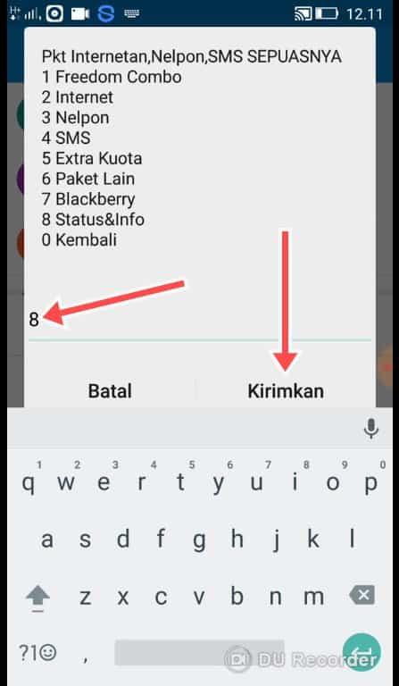 Cara Cek Kuota Indosat Ooredoo 4G Lte Melalui Telepon - Tekan 8 Lalu Kirimkan