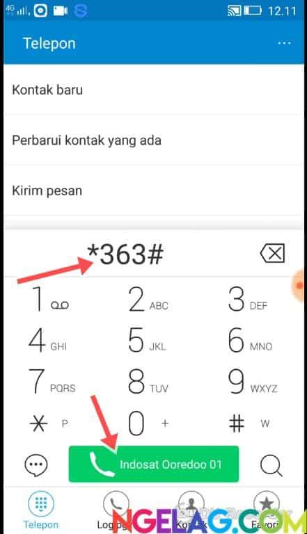 Cara Cek Kuota Indosat Ooredoo 4G Lte Melalui Telepon - Telepon Ke 363