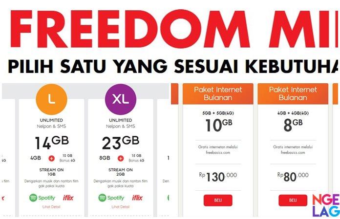Image Result For Paket Internet Freedom Indosat