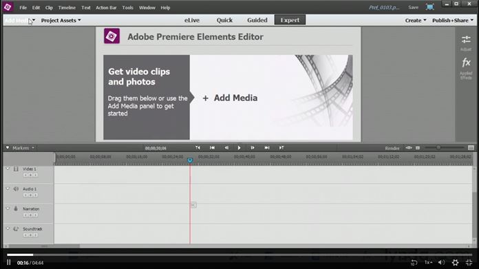 Software Edit Video PC Terbaik Terpopuler - Adobe Premiere Elements