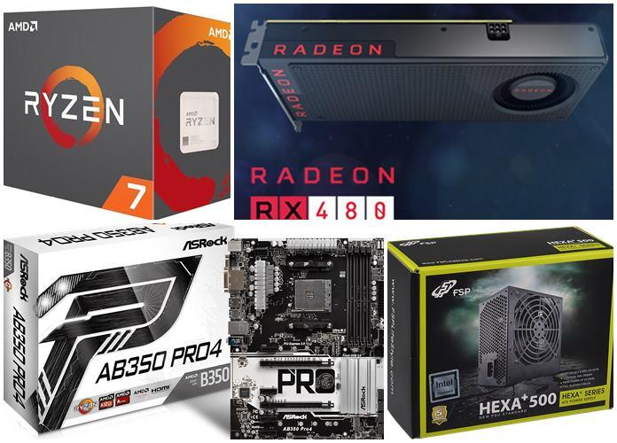 Rakit PC Gaming AMD Ryzen 7 1800X 17 Jutaan 2017