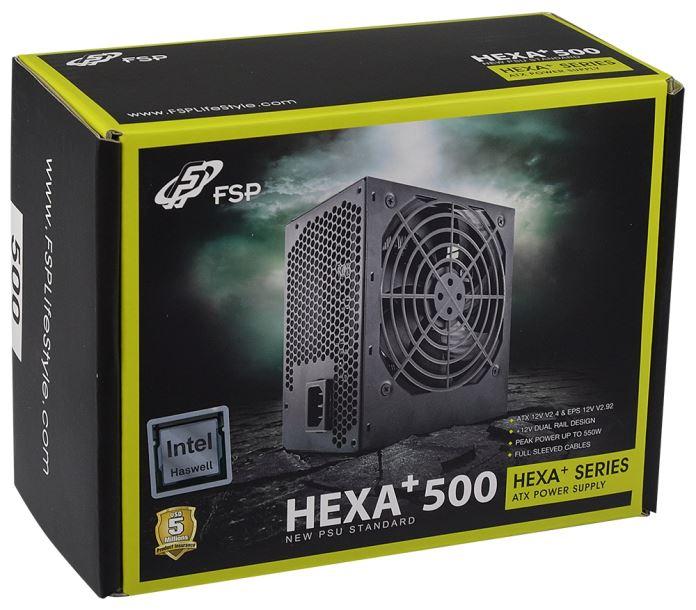 Rakit PC Gaming Ryzen 5 1600X 10 Jutaan 2017 - PSU FSP HEXA+ 500