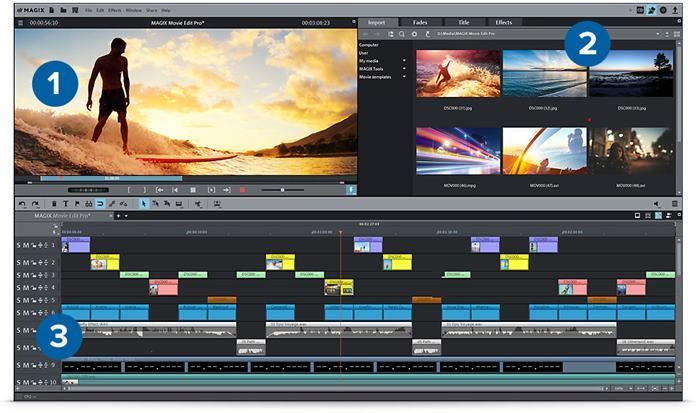 Software Edit Video PC Terbaik Terpopuler - Magix Movie Edit Pro 2016 Premium