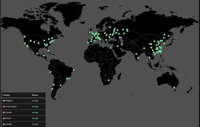 Peta Penyebaran Virus Ransomware WannaCry