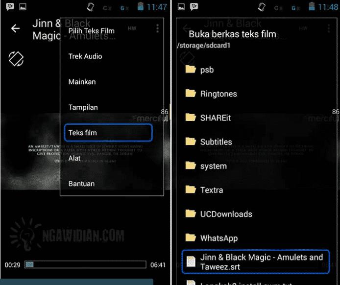 Mudah Tanpa Root Cara Menampilkan Subtitle Film Di Android