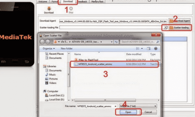 100% Tes Work] Cara Flash Advan S5E + Software Pendukung