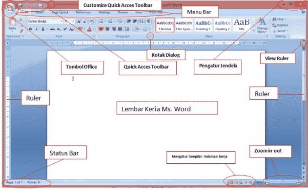 fungsi bagian menu microsoft word