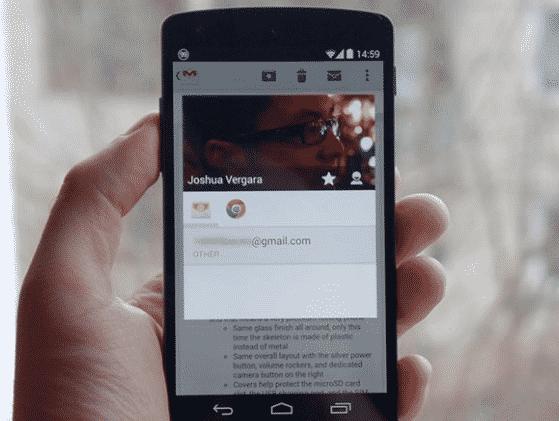 Menggunakan Google Contact