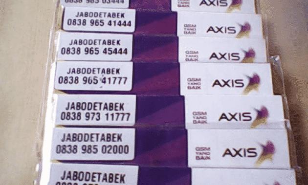 Cara Mengecek Nomor Axis Sendiri
