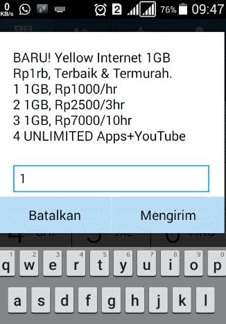 Paket Yellow Indosat